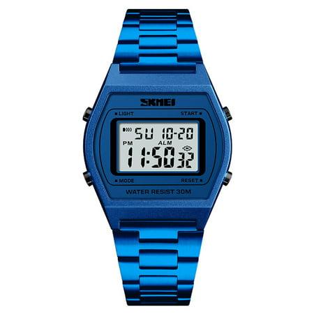4ea7f2f9d SKMEI 1328 Men Fashion Casual Sports Wristwatch Analog Digital Watch 3ATM  Water Resistant Stainless Steel Strap