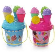 Cheers 8Pcs Children Outdoor Beach Ice Cream Bucket Ladle Model Play Sand Sandpit Toy