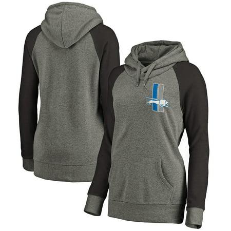 Detroit Lions Mens Sweatshirts - Detroit Lions NFL Pro Line Women's Lounge Tri-Blend Pullover Hoodie - Gray/Black