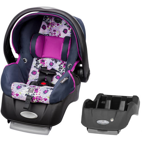Evenflo Embrace Select Infant Car Seat with Sure Safe Installation, Florence, with BONUS Car Seat Base