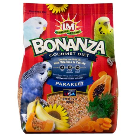 - LM Animal Farms Bonanza Gourmet Diet Parakeet Bird Food, 2 lb