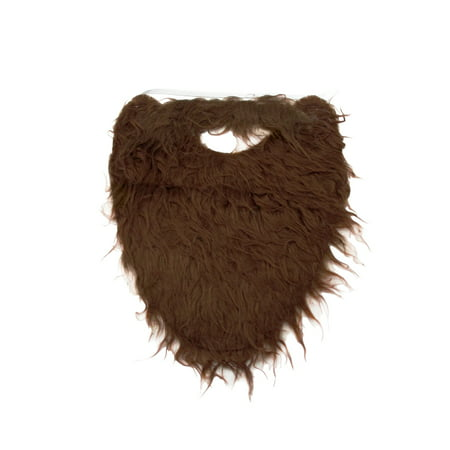 Fake Brown Costume Beard and Mustache Adult Child Facial Hair Accessory - Realistic Fake Beard