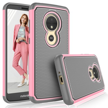 - Moto E5 Plus Case, Motorola Moto E5 Supra Case For Girls, Tekcoo [Tmajor] Shock Absorbing [Baby Pink] Hybrid Rubber Silicone & Plastic Scratch Resistant Bumper Grip Cute Sturdy Hard Cases Cover