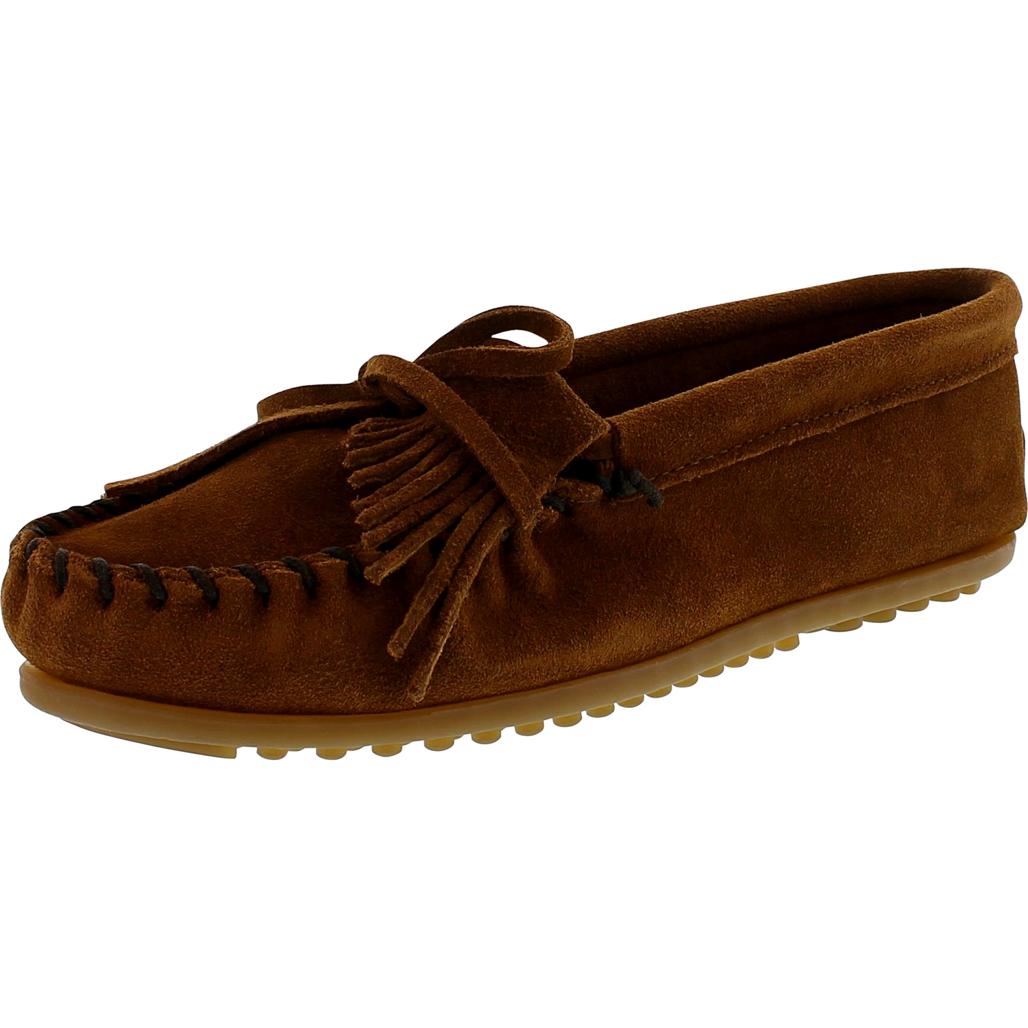 Minnetonka Women's Kilty Suede Moc Hardsole Ankle-High Suede Loafer by Minnetonka