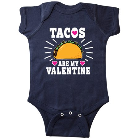 Tacos Are My Valentine with Hearts Infant Creeper