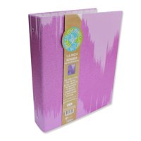 U Style Glitter Splash 3 Ring Paper Binder, Purple, 1.5 inch