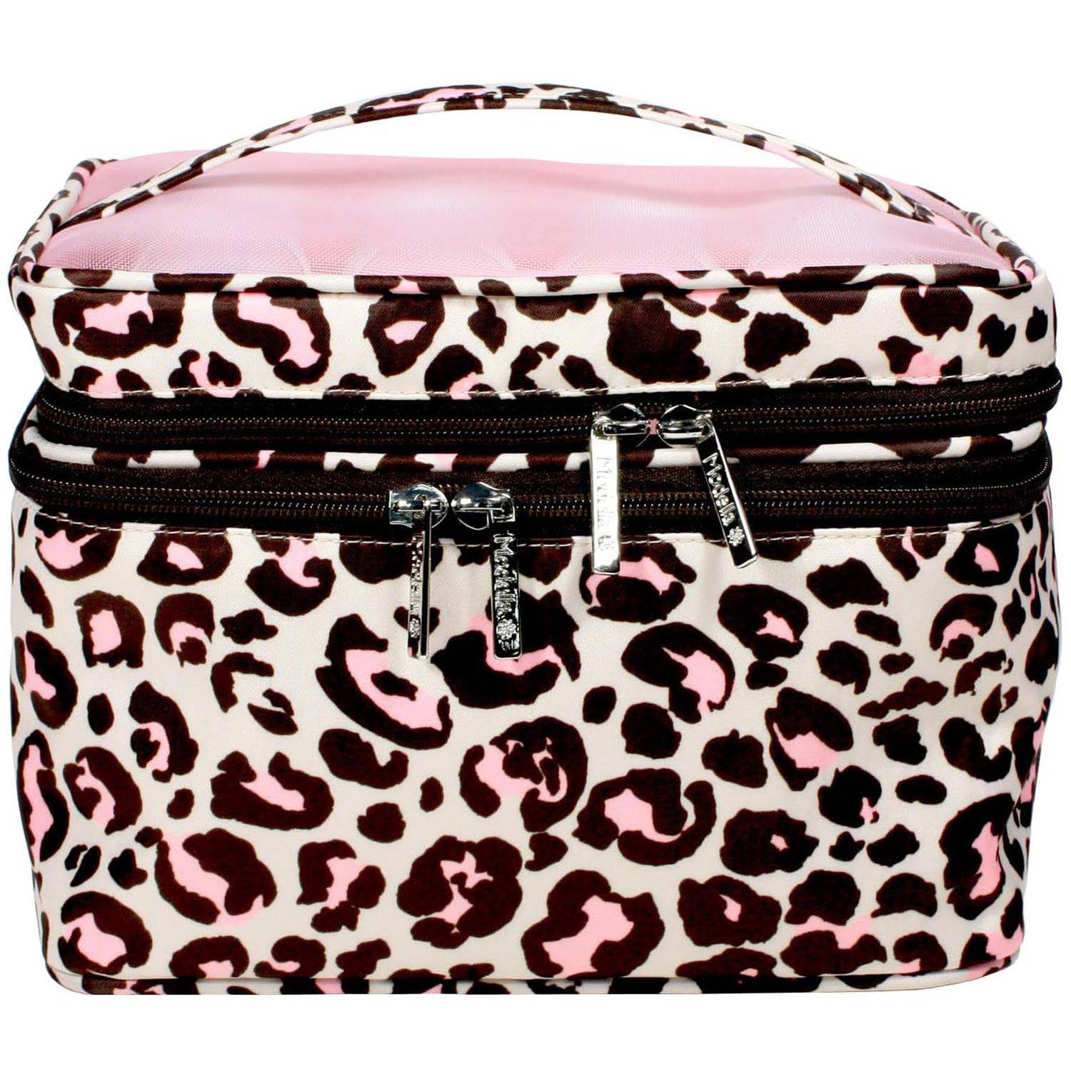 Modella Cheetah Fitted Train Case Set, 5 pc