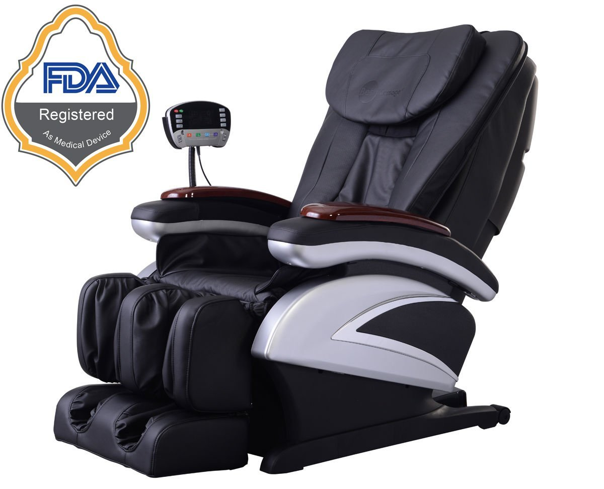 electric full body shiatsu massage chair recliner wheat stretched foot rest