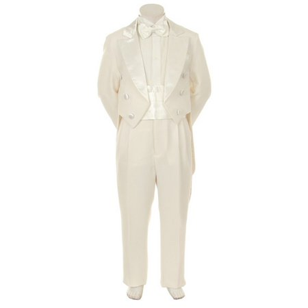 Kids Dream Ivory Formal 5 pcs Tail Special Occasion Boys Tuxedo 5-8 - Tuxedo With Tails For Sale