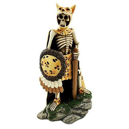 Aztec Elite Jaguar Warrior Knight Skeleton Day of The Dead Sculpture Figurine](Skeleton Knight)