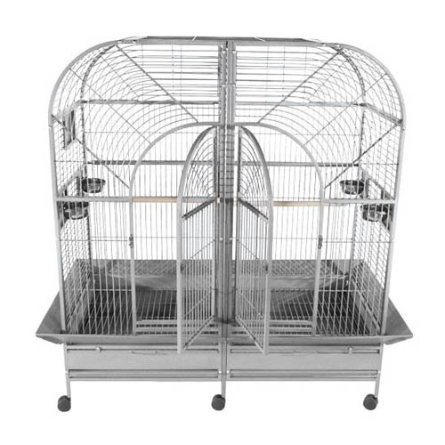A and E Cage Co. Stainless Steel Double Macaw Bird Cage by A and E Cage Co LLC