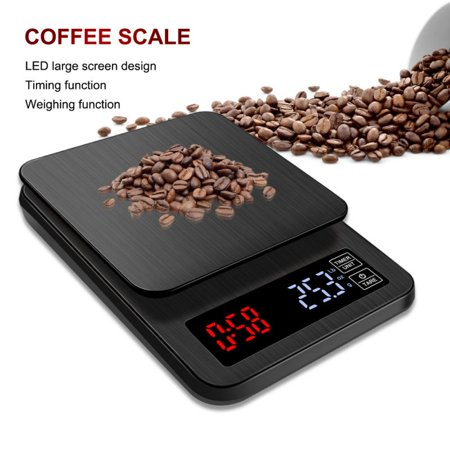 f636a22d6a55 FYSHO 5kg 0.1g Digital Kitchen Food Scale Coffee Scale with Timer LCD  Display Screen for Cooking Baking Battery Not Included