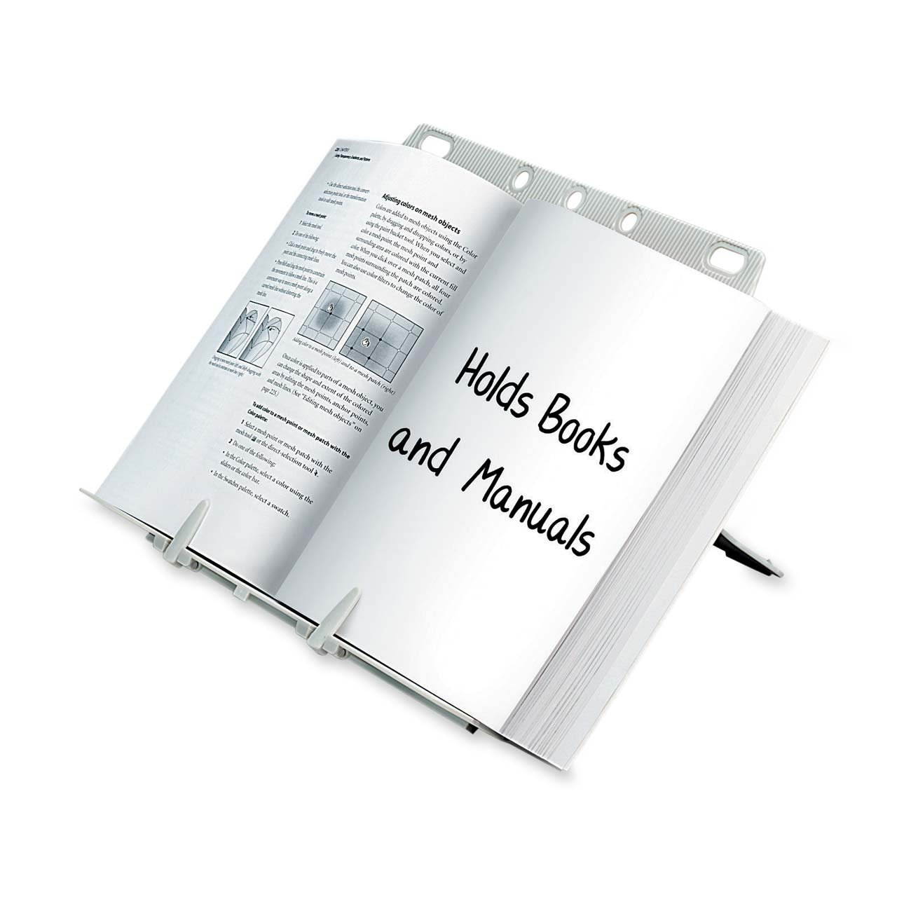 Booklift Copyholder, Platinum (21100), Ideal for e-readers (Kindle, Kindle Fire), tablets (iPad), planners,... by