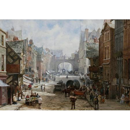 Eastgate Street (Chester Eastgate Street Canvas Art - Louise Rayner (18 x)