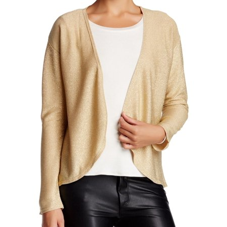 Olivia Sky NEW Gold Womens Small S Metallic Open Front Cardigan ...