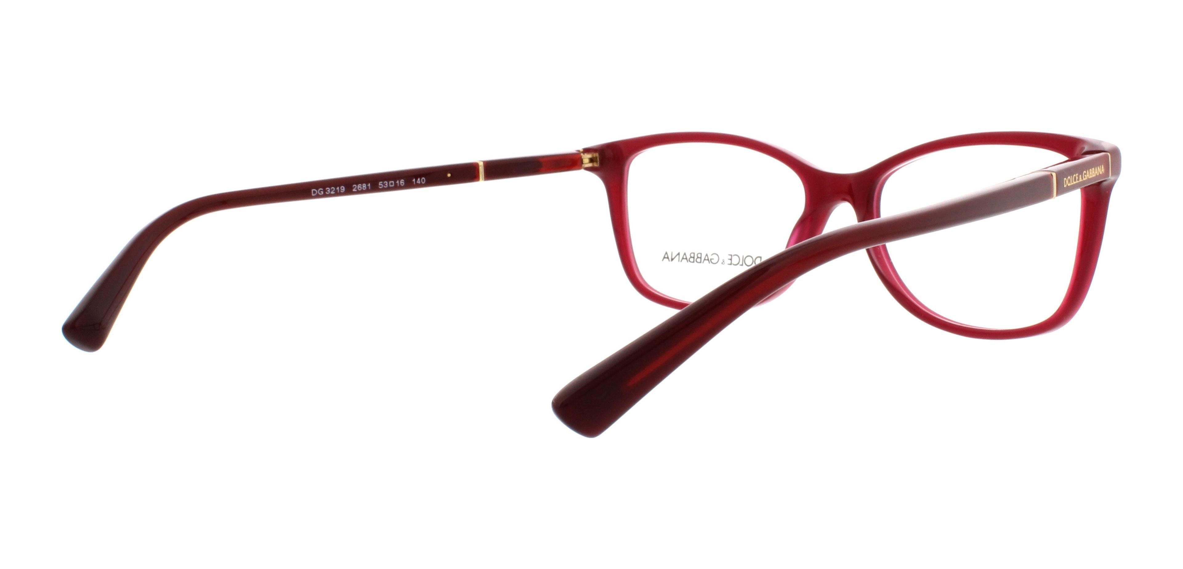 82e42f6286 DOLCE   GABBANA Eyeglasses DG 3219 2681 Opal Red 53MM - Walmart.com