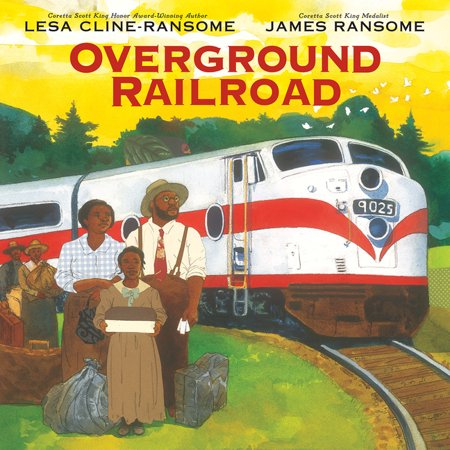 Overground Railroad A window into a child's experience of the Great Migration from the award-winning creators of Before She Was Harriet and Finding Langston. As she climbs aboard the New York bound Silver Meteor train, Ruth Ellen embarks upon a journey toward a new life up North-- one she can't begin to imagine. Stop by stop, the perceptive young narrator tells her journey in poems, leaving behind the cotton fields and distant Blue Ridge mountains. Each leg of the trip brings new revelations as scenes out the window of folks working in fields give way to the Delaware River, the curtain that separates the colored car is removed, and glimpses of the freedom and opportunity the family hopes to find come into view. As they travel, Ruth Ellen reads from Narrative of the Life of Frederick Douglass,  reflecting on how her journey mirrors her own-- until finally the train arrives at its last stop, New York's Penn Station, and the family heads out into a night filled with bright lights, glimmering stars, and new possiblity. James Ransome's mixed-media illustrations are full of bold color and texture, bringing Ruth Ellen's journey to life, from sprawling cotton fields to cramped train cars, the wary glances of other passengers and the dark forest through which Frederick Douglass traveled towards freedom. Overground Railroad is, as Lesa notes, a story  of people who were running from and running to at the same time,  and it's a story that will stay with readers long after the final pages. A Junior Library Guild Selection Praise for Lesa Cline-Ransome and James Ransome's Before She Was Harriet, a Coretta Scott King Honor Book and winner of the Christopher Award *  Ransome's lavishly detailed and expansive double-page spreads situate young readers in each time and place as the text takes them further into the past. --Kirkus Reviews, Starred Review *  a powerful reminder of how all children carry within them the potential for greatness. --Publishers Weekly, Starred Review