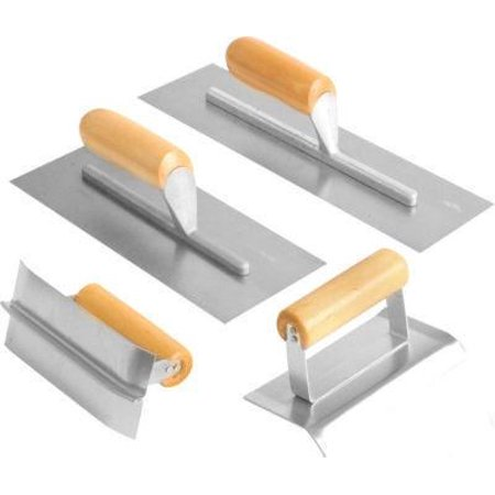 4 Piece Concrete Cement Finishing Hand Trowel Tool Set