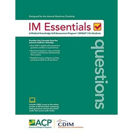 IM Essential Questions: A Medical Knowledge Self-Assessment Program (MKSAP)  for Students  Text with Access Code