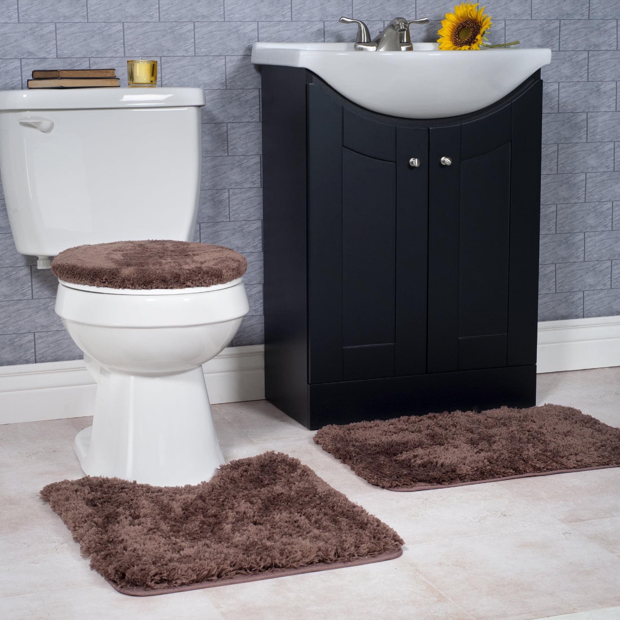 Somerset Home 3 Piece Super Plush Non Slip Bath Rug Set