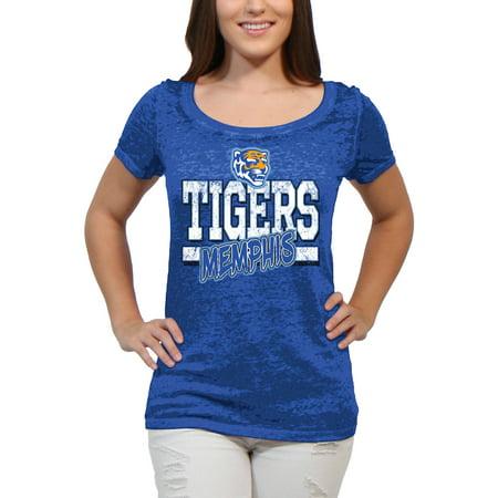 - Memphis Tigers Block Graffiti Women'S/Juniors Team Short Sleeve Scoop Neck Tee Shirt