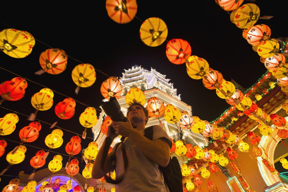 Posterazzi the fantastic lighting of kek lok si temple and a