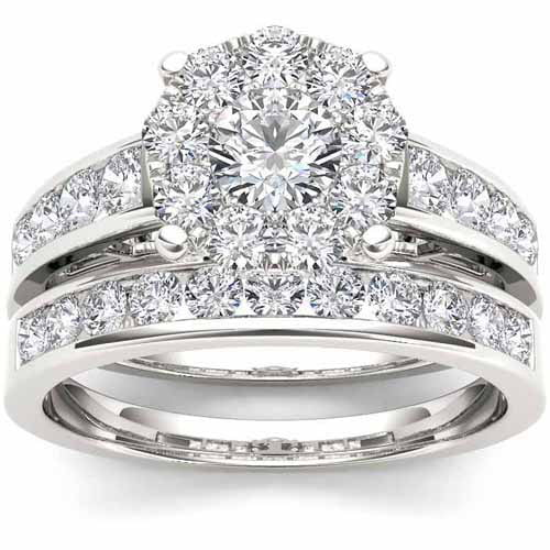 Imperial 1-1 2 Carat T.W. Diamond 10kt White Gold Round-Shape Bridal Ring Set by Imperial Jewels