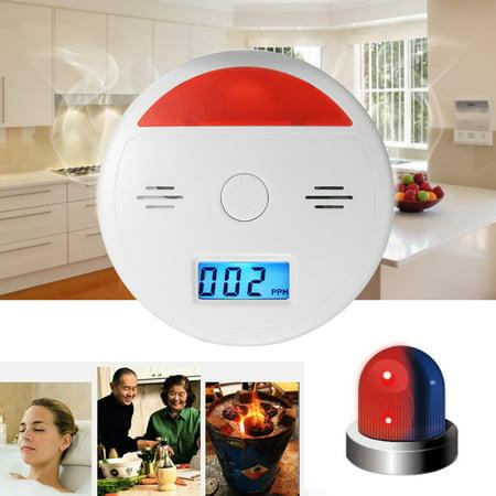 2 In 1 Battery Operated LCD Carbon Monoxide & Smoke Alarm / CO Carbon Monoxide Detector Fire Sensor Alarm Sound Combo Sensor Tester with Digital Display - image 3 of 10