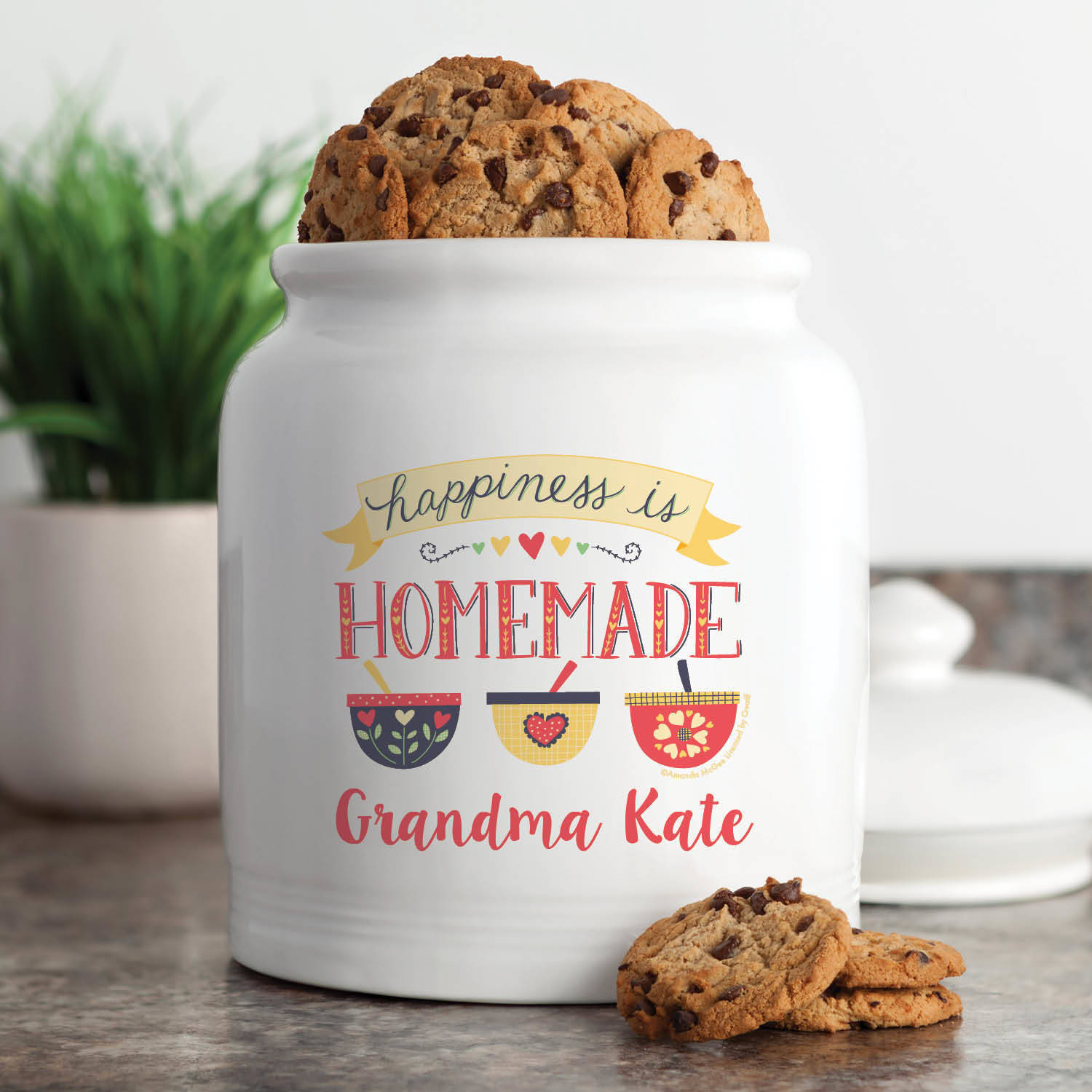 Amanda McGee 'Happiness is Homemade' Personalized Cookie Jar by Generic
