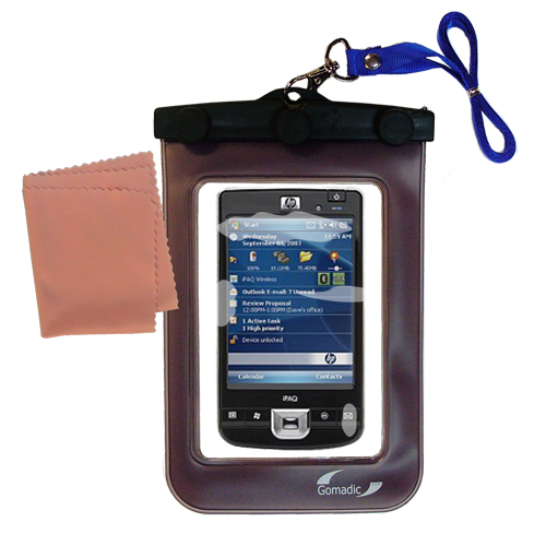 Gomadic Clean and Dry Waterproof Protective Case Suitablefor the HP iPaq 214 to use Underwater