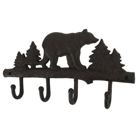 Metal Wall Mount Black Bear Hook 40 Hooks Key Ring OrganizerHat Cool Black Metal Wall Mounted Coat Rack