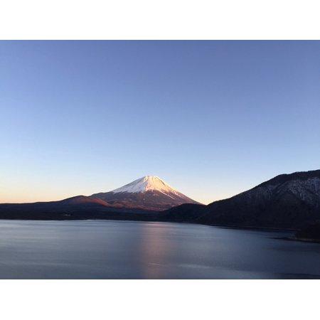 LAMINATED POSTER Upside Down Fuji Reflection Mt Fuji Poster Print 24 x 36 - Upside Down Mirror Halloween