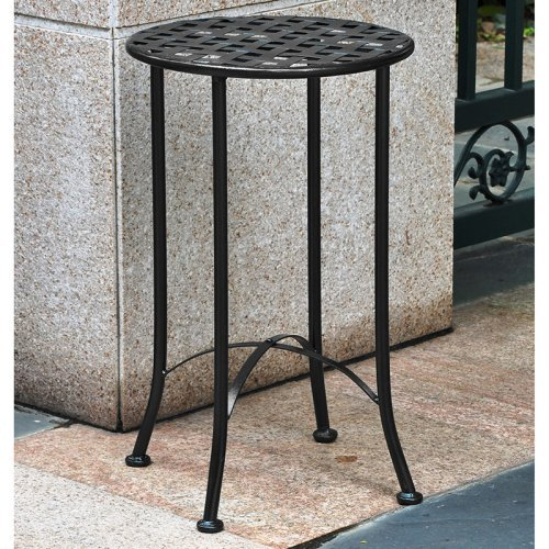 International Caravan Mandalay 15 in. Wrought Iron Patio Table
