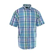 Club Room NEW Blue Green White Mens Size Small S Plaid Button-Front Shirt