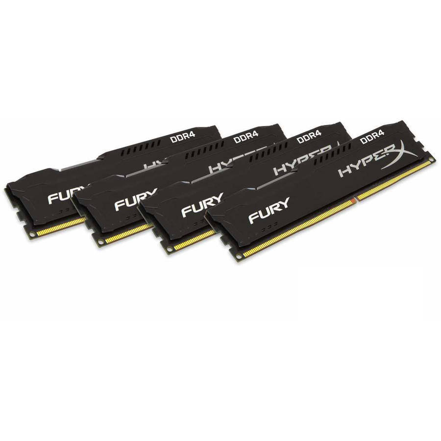 Kingston 16GB 2666MHz DDR4 Non-ECC CL15 DIMM (Kit of 4)HyperX FURY Black Series Memory Module