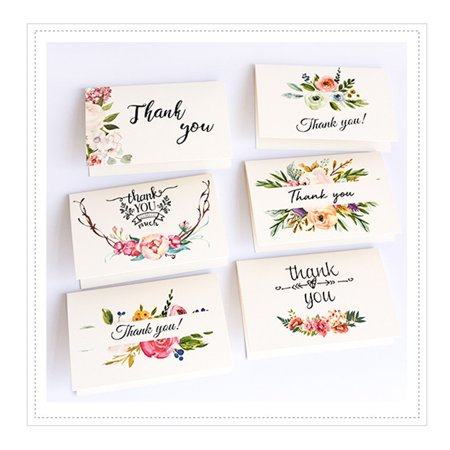 Market In The Box Set of 6 Thanksgiving Greeting Cards Thank You Notes with Envelopes for Wedding Thanksgiving Day Business - Box For Wedding Cards