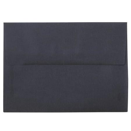 Jam Paper A7 Invitation Envelope 5 1 4 X 7 1 4 Charcoal Grey