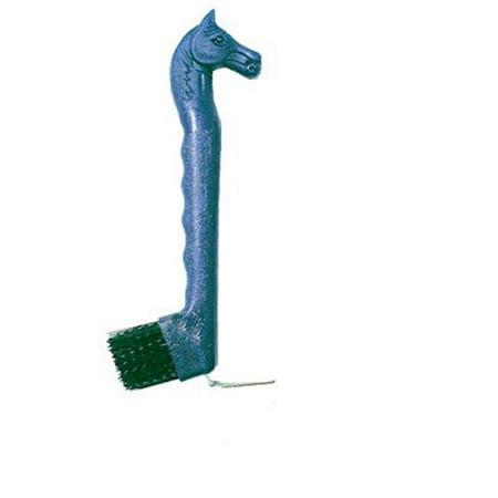 Intrepid International 222733 Horse Head Hoof Pick with Brush, Green - Hoof Pick Brush