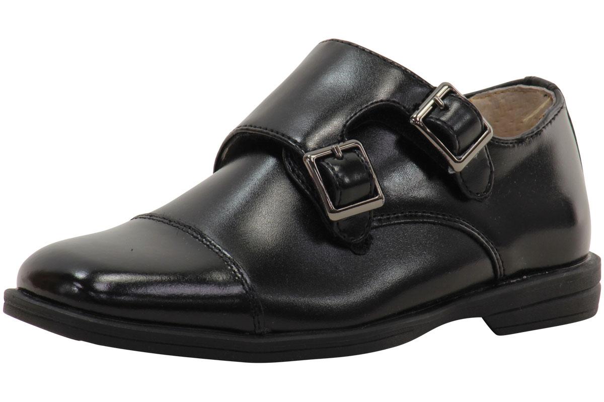 Florsheim Kids Little Big Boy's Reveal Double Monk Oxford Shoes by Florsheim