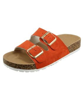 Women's Casual Buckle Straps Sandals Flip Flop Platform Footbed Sandals (FREE SHIPPING)