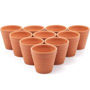 "10 Pack 2.7"" Terra Cotta Pots, Mini Small Terracotta Flower Clay Pots Planters Ceramic Pottery Nursey Indoor Outdoor Gardening for Cacti & Succulent Plants, Brown"