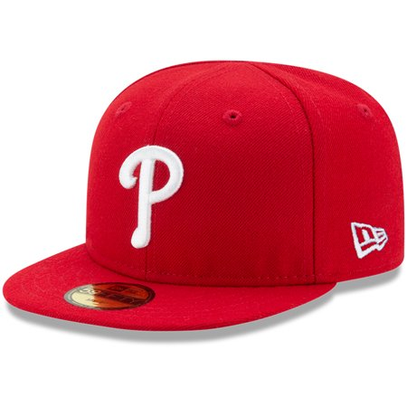 Philadelphia Phillies New Era Infant Authentic Collection On-Field My First 59FIFTY Fitted Hat - Red - 6