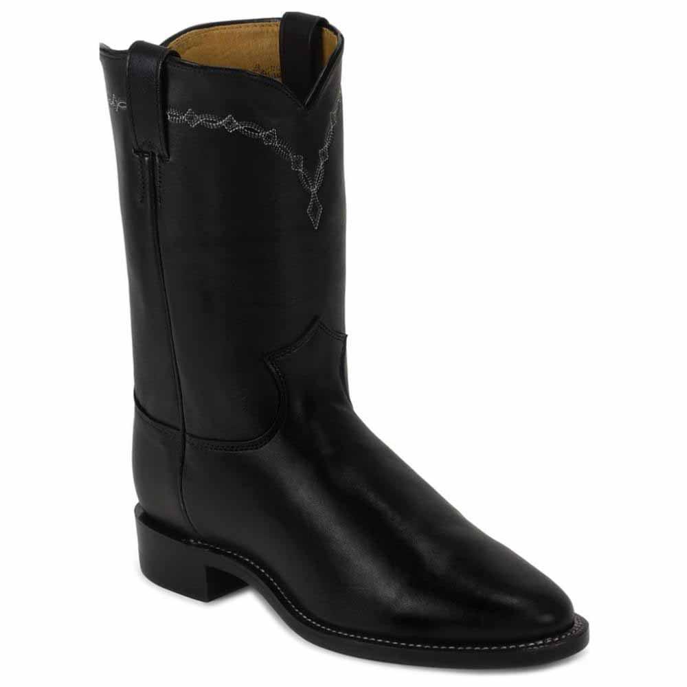 justin boots royal black cowhide walmart
