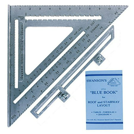 S0107 12 Inch Speed Square Layout Tool with Blue Book Heavy gauge alum