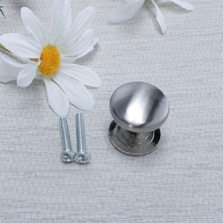 Zinc Alloy Knobs Round Drawer Handle Wardrobe Accessories 26mm, Silver Tone 5pcs - image 3 of 8