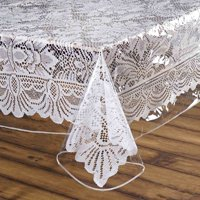 Efavormart Clear Vinyl Tablecloth Protector Eco-Friendly Cover for Picnic Banquet Kitchen Dining Catering Wedding Birthday Party