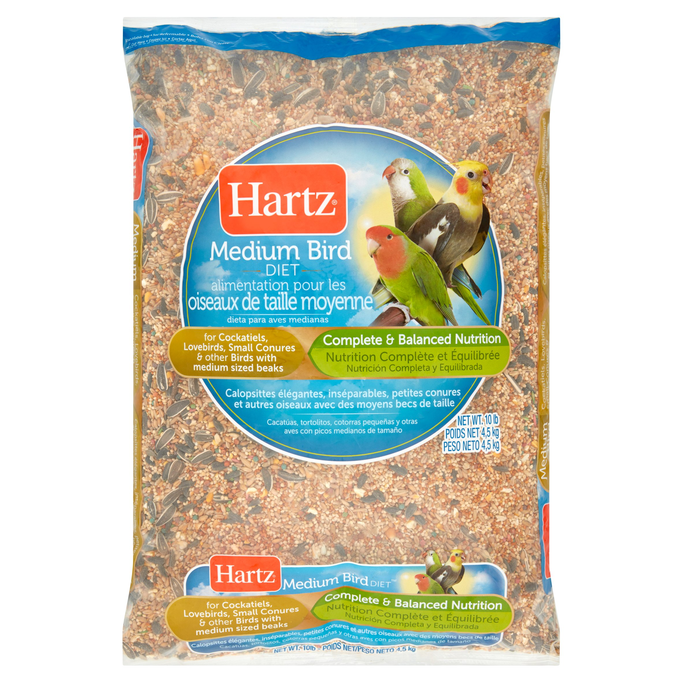 Hartz Cockatiel Medium Bird Food, 10 lbs by The Hartz Mountain Corporation