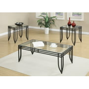Emerald Home Endeavor Black 3 Piece Accent Table Set with