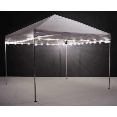 Canopy Brightz LED Tailgate Canopy & Patio Umbrella Accessory, White White Led Tailgate