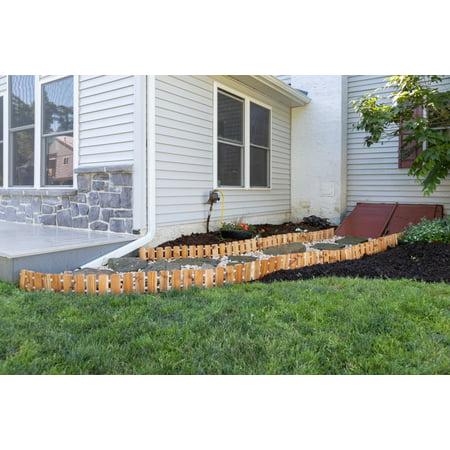 Barn Outdoor Garden (Furniture Barn USA™ Garden Edging in Cedar Wood - Multiple Lengths Available )